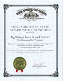 FY2014 Auditor of State Award with Distinction
