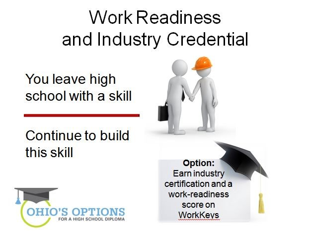 ohio's options - work readiness and industry credential