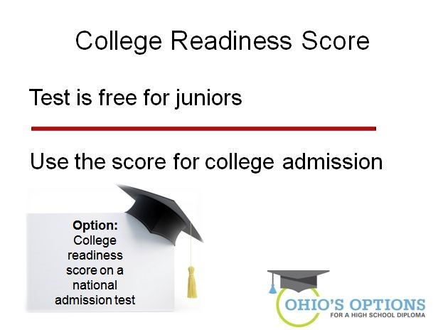 ohio's options - collefe readiness score