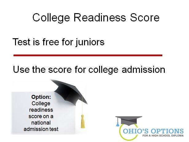 ohio's options - collefe readiness score