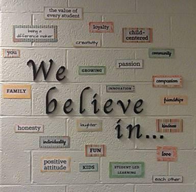we believe in
