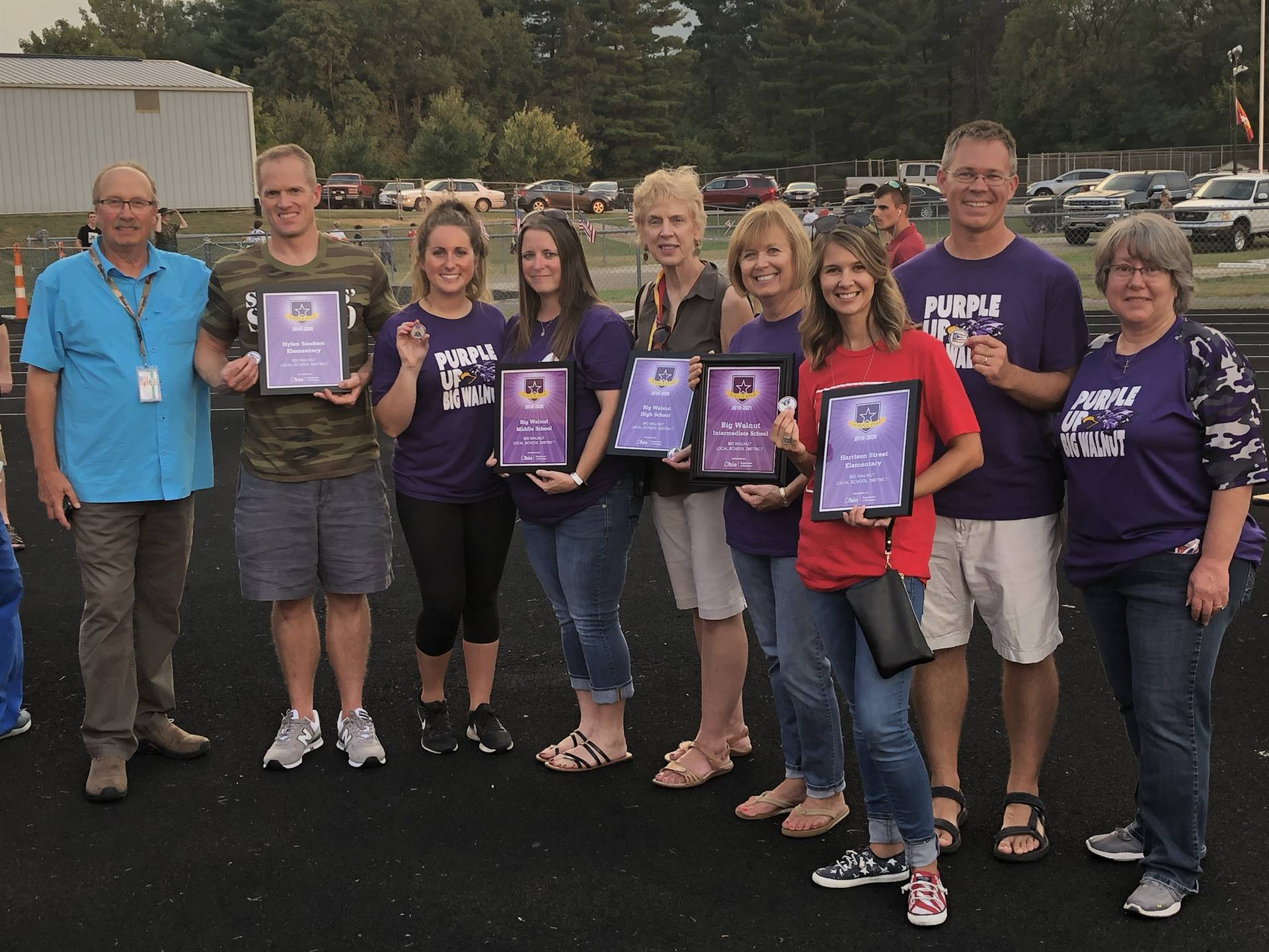 Purple Star Staff Liaisons with Awards