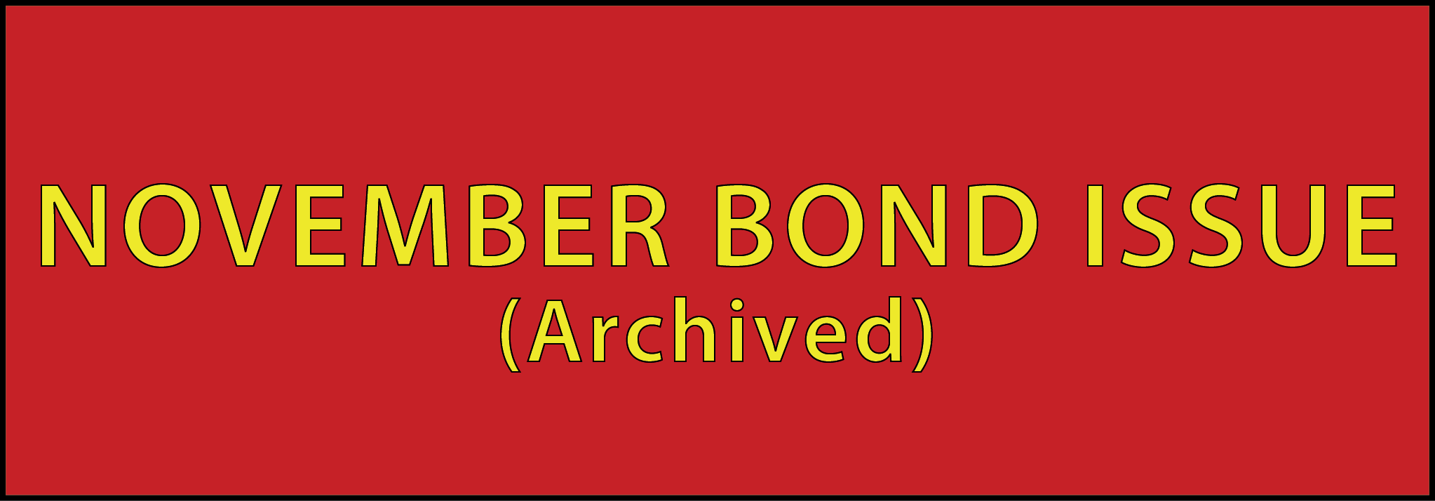 Archived Bond Issue Button