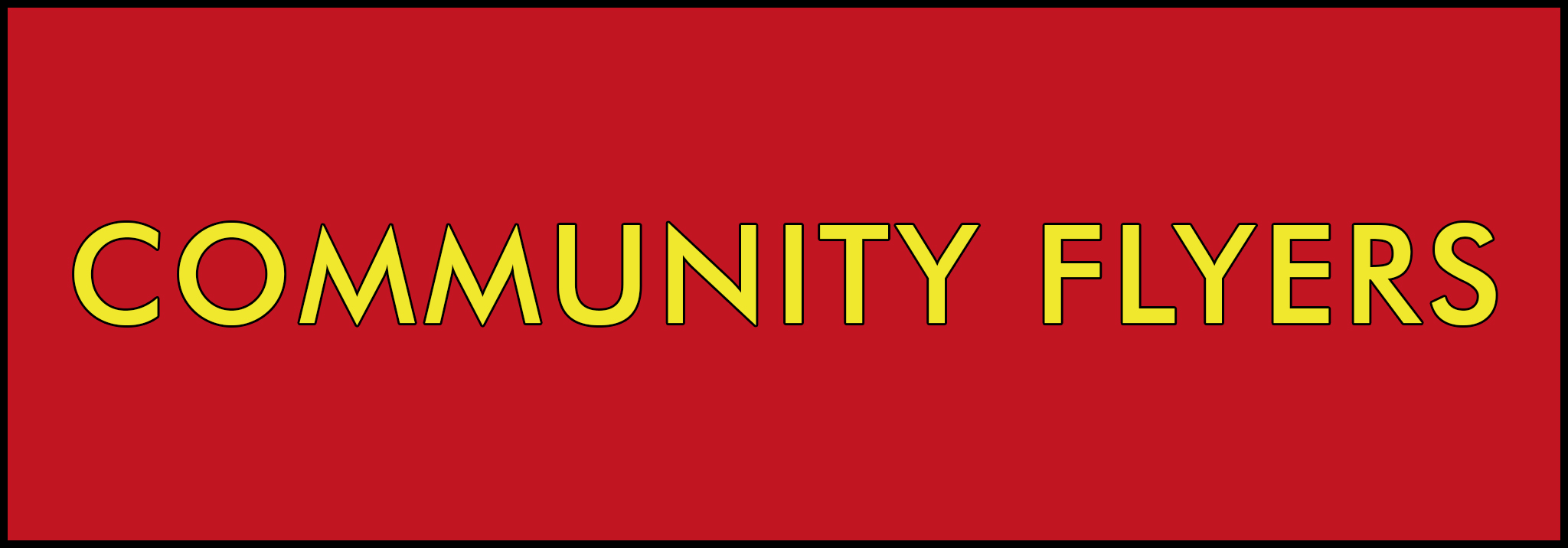 community flyer button